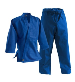 Single-Weave Student Judo Gi - Drawstring Pants-BLUE