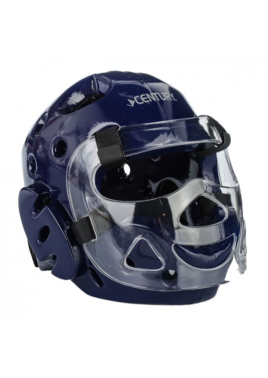Student Sparring Headgear with Face Shield-BLUE