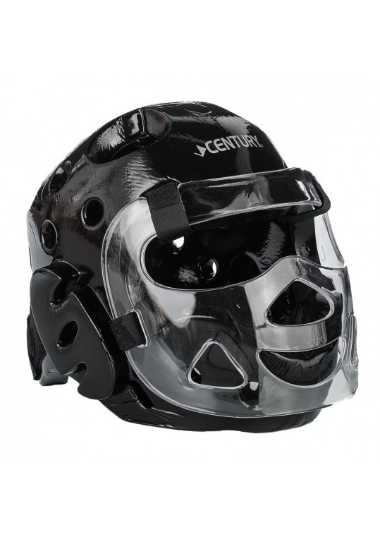 Student Sparring Headgear with Face Shield-BLACK