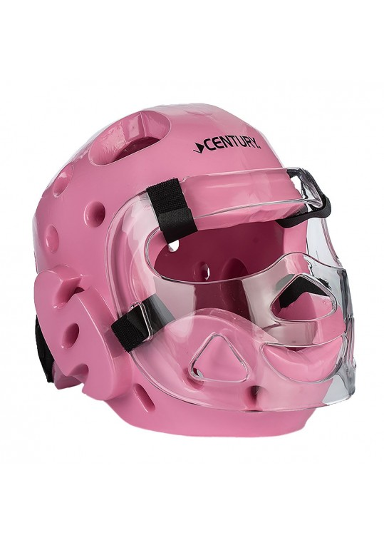 Student Sparring Headgear with Face Shield-PINK