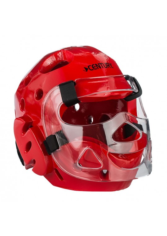 Student Sparring Headgear with Face Shield-RED