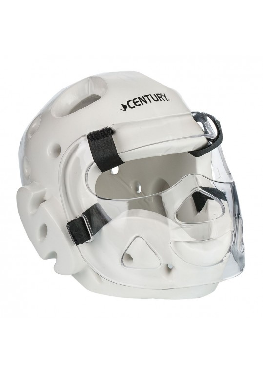 Student Sparring Headgear with Face Shield-WHITE
