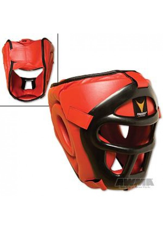 ProForce® Thunder Red Vinyl Head Guard w/ Face Shield