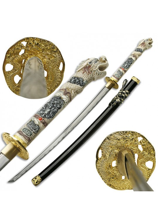 "Gold Dragon Samurai Sword (43"")"