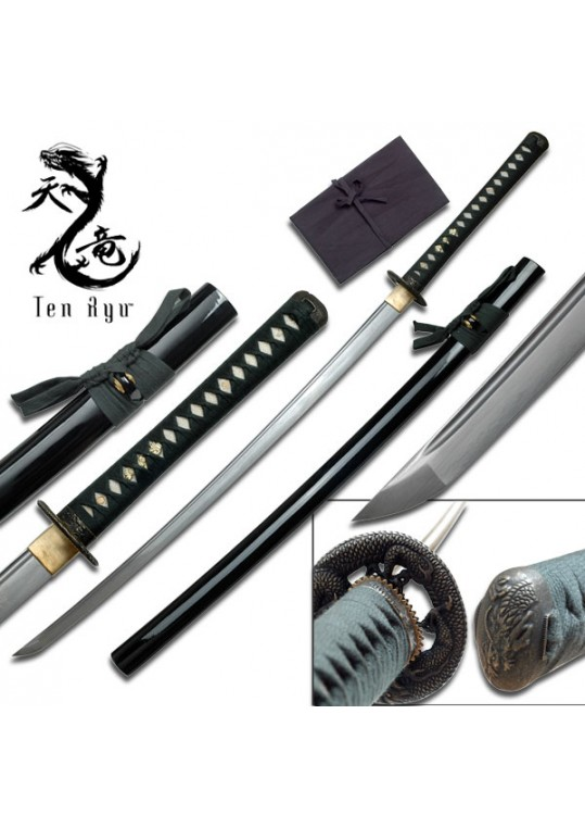 Ten Ryu Katana - Hand forged Samurai Sword