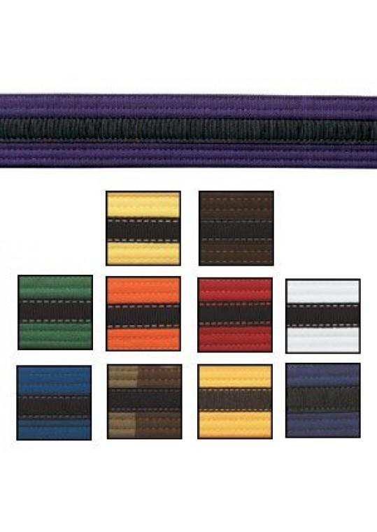 Double Wrap Black Striped Belt