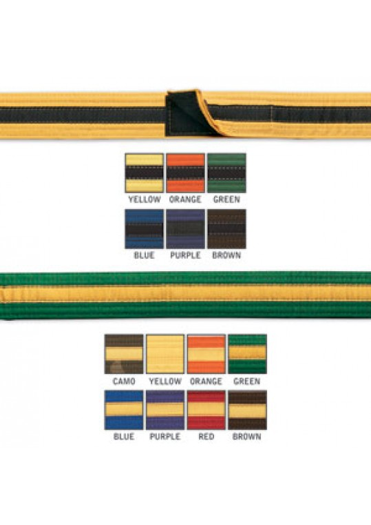 Single Wrap Striped Belt