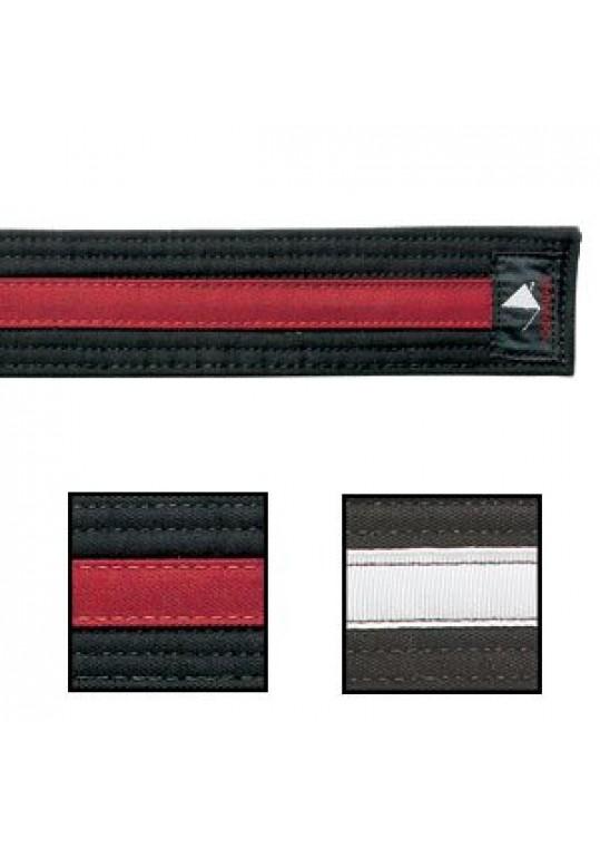 Double Wrap Deluxe Striped Black Belt