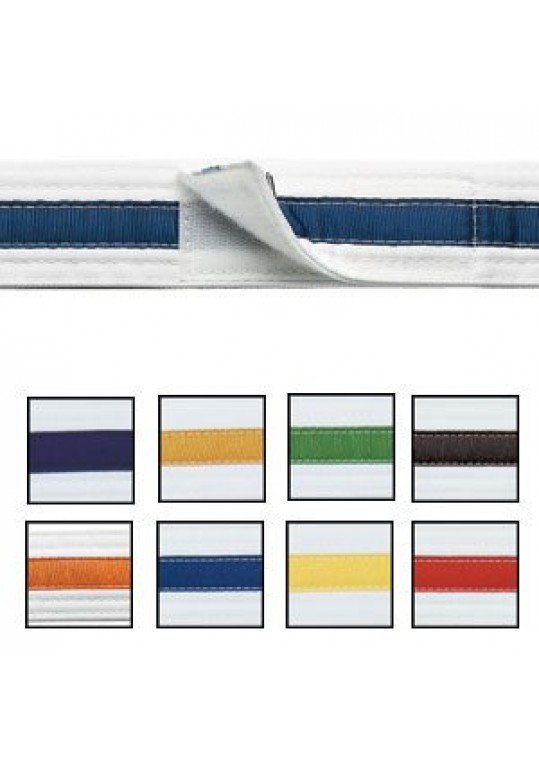 Adjustable Striped White Belt