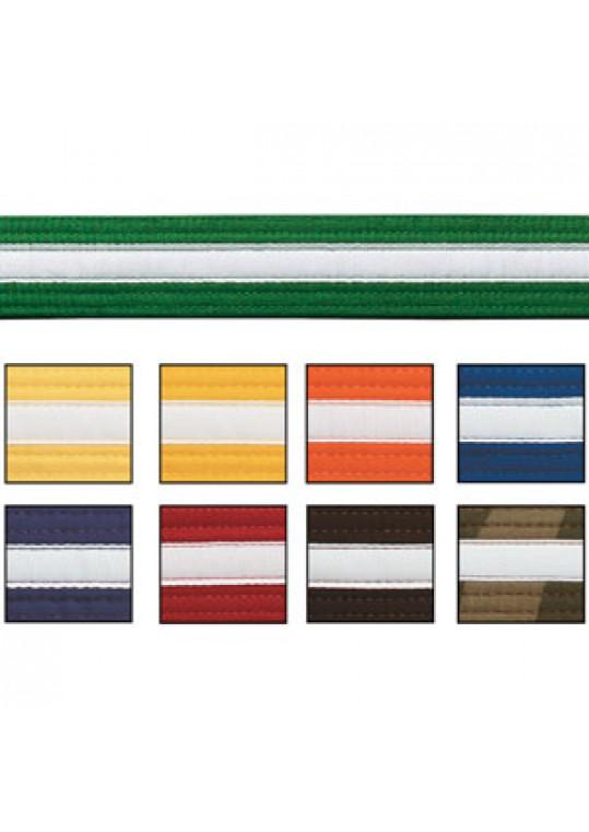Double Wrap White Striped Belt