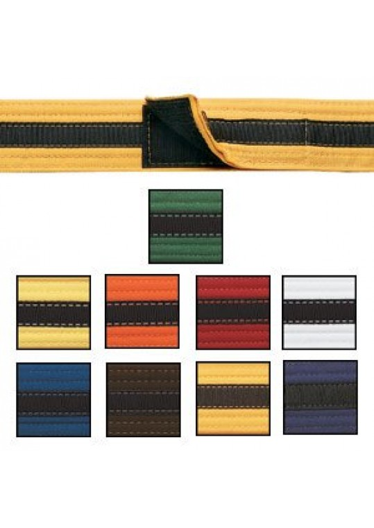 Adjustable Black Stripe Belt
