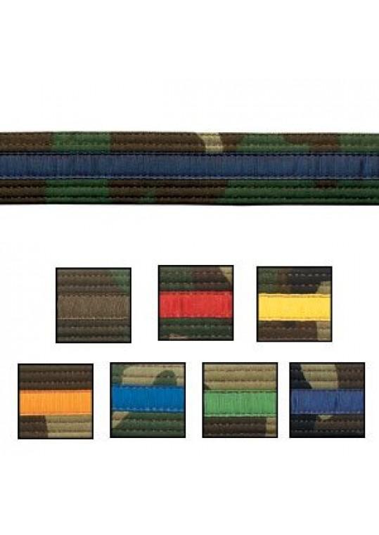 Double Wrap Striped Camo Belt