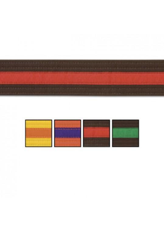 Double Wrap Single Striped Belt
