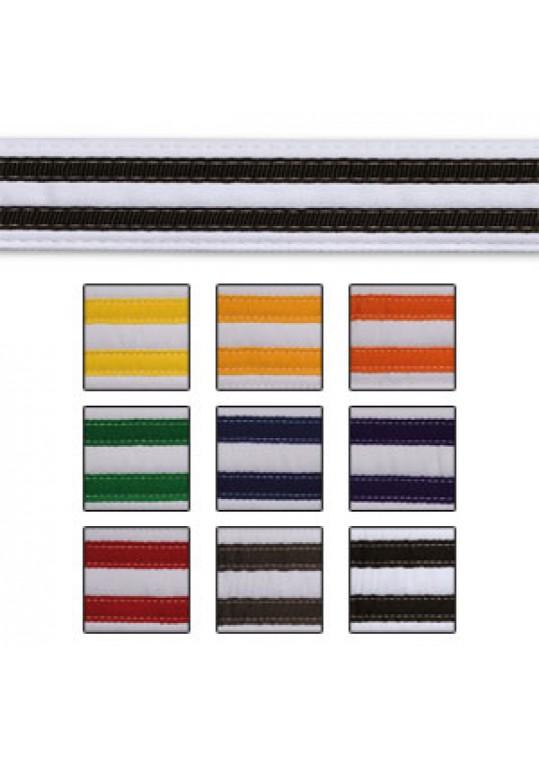 Double Stripe White Belt