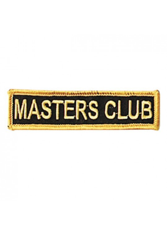 Black/Gold Masters Club Patch