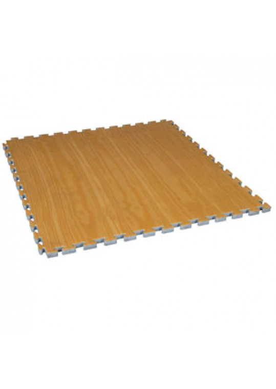 Wood Grain Reversible Puzzle Mat