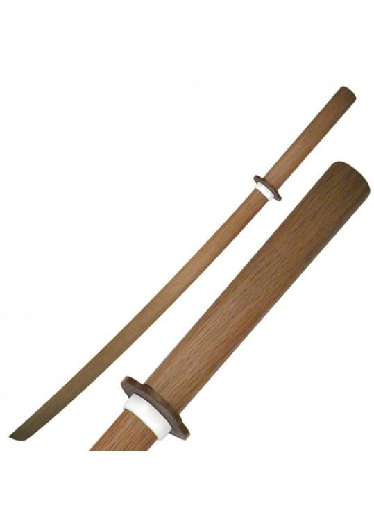 "SAMURAI WOODEN TRAINING SWORD 40"" OVERALL"