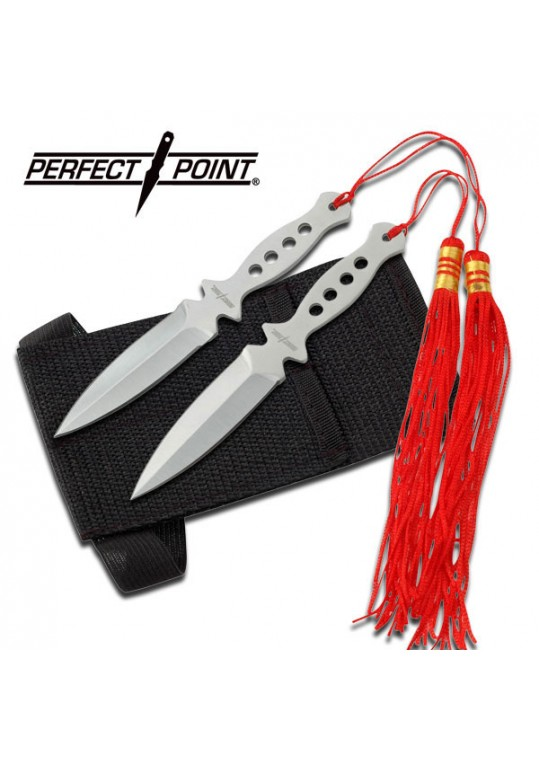"""PERFECT POINT 90-15 THROWING KNIFE SET 5.25"""""""