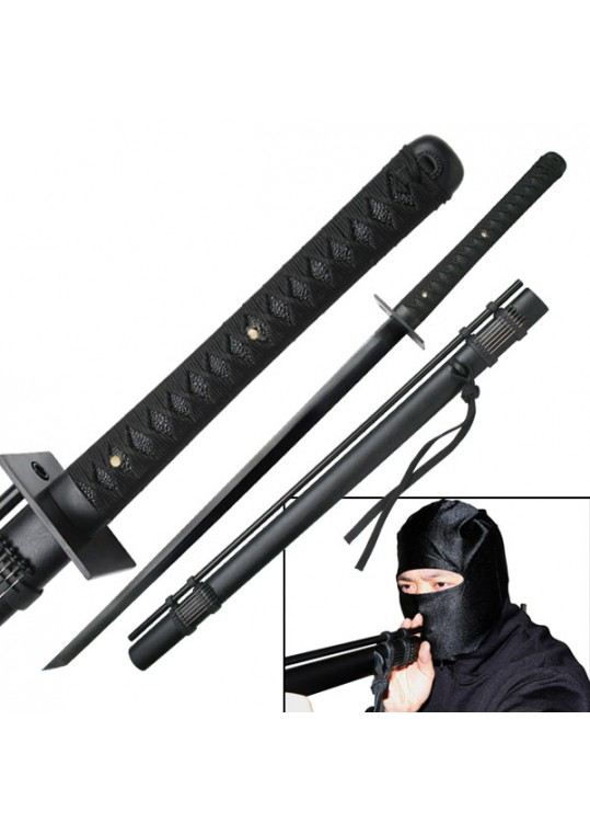 "27"" Black Stainless Steel Blade Ninja Sword"