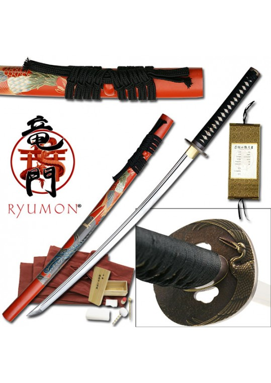 "HAND FORGED SAMURAI SWORD 41.5"" OVERALL"