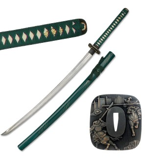 Green Samurai Sword