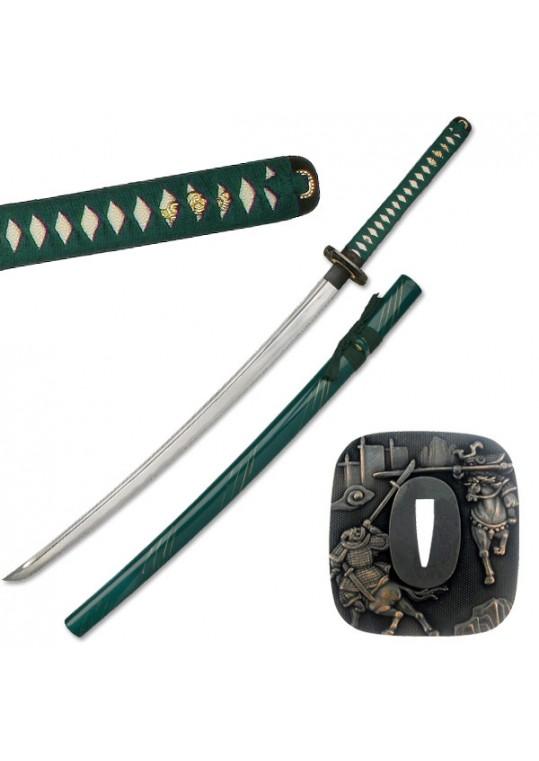 "HAND FORGED SAMURAI SWORD 41"" OVERALL"
