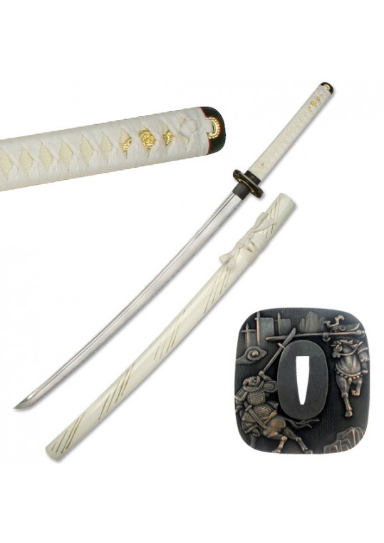 "HAND FORGED SAMURAI SWORD 41"" OVERALL"