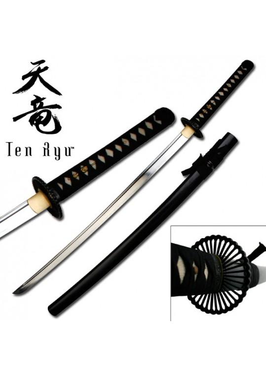 "HAND FORGED SAMURAI SWORD 40.5"" OVERALL"