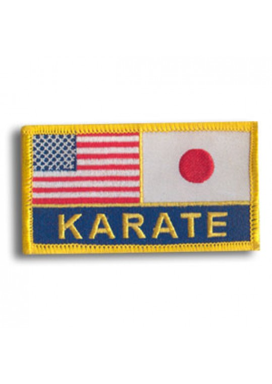 US/Japan Flags-Karate Patch