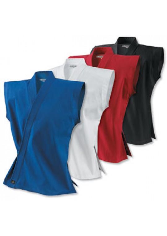 8 oz. Middleweight Brushed Cotton Sleeveless Traditional Jacket