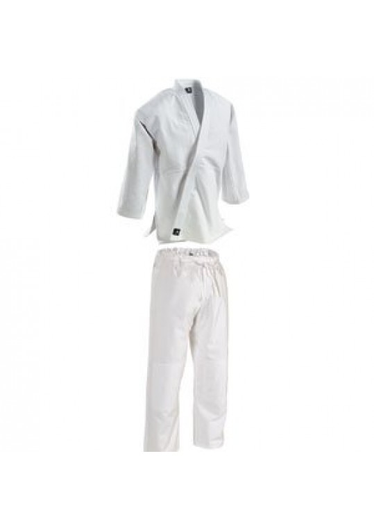 Single-Weave Student Judo Gi - Drawstring Pants-WHITE