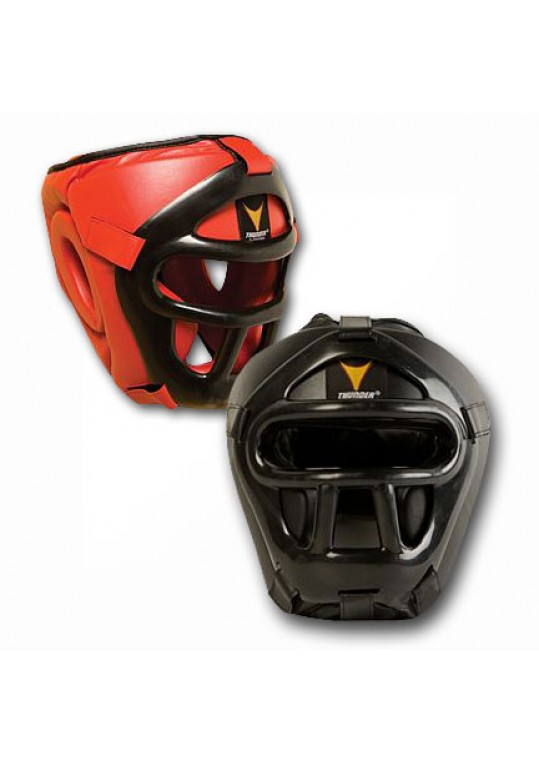 ProForce Thunder Vinyl Headguard w/Face Cage