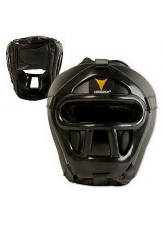 ProForce® Thunder Black Vinyl Head Guard w/ Face Shield