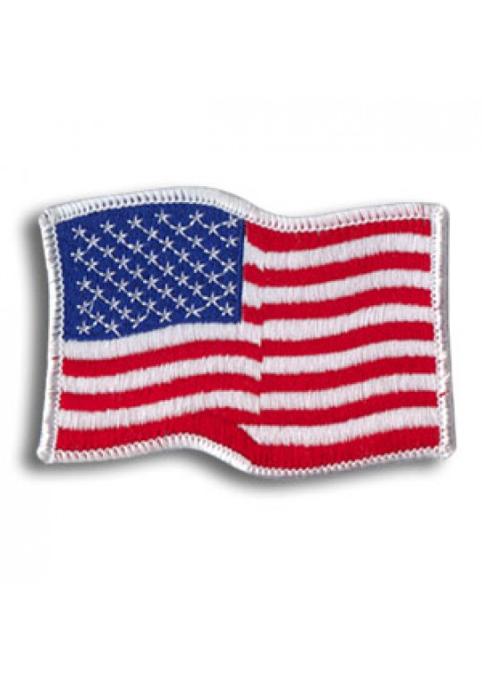 USA Waving-White Border